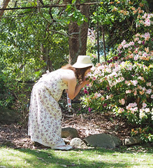 Smell The Flowers (justplainrachel) Tags: justplainrachel rachel cd tv crossdresser frock dress floral selfie selfportrait transvestite
