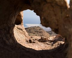 Las dunas de Maspalomas en el punto de mira (stereocallo) Tags: grancanaria barranco dunas mirador hueco piedra