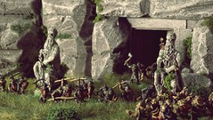 The gates of Norgerond (torq42) Tags: 15mm 18mm fantasy lordoftherings wargame dragonrampant tabletop middleearth warhammerfantasy orcs dwarves