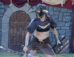 Strong Women (Pete Foley) Tags: lasvegas ageofchivalry renaissancefair nevada whyimovedtovegas warriorwoman horns sword armor leather littlestories picswithsoul flickrsbest overtheexcellence