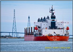 Global Wisdom 1619 LR (bradleybennett) Tags: cargo vessel ship shipping delta water river ocean tanker antioch port stockton global wisdom