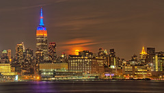 (anetherly) Tags: empirestatebuilding moon moonrise waterfront nyc