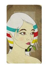 Bay Blanket Gir #2l (christopher hayes artist) Tags: christopher hayes hudson bay blanket girl maple leaf canadiana pop art