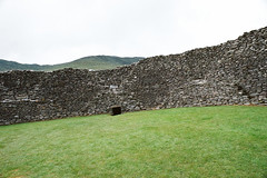 """Staigue (Peter Gutierrez) Tags: photo europe european europeans ireland eire irish iveragh kerry sneem staigue staig an stéig caiseal stone ring fort ringfort iron age prehistoric stronghold fortified wall walls walled hill hills ruin ruins stones heritage architectureriver stream water waterfall fall cascade tree trees grass green peter gutierrez """"peter gutierrez"""" film photograph photography"""