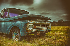 Untitled (Dr_Fu_Manchu) Tags: old bridge ohio urban ford abandoned skyline rural truck reflections river nikon colorful long exposure cityscape decay farm kentucky exploring explore d750 louisville nikkor derelict decaying 750 24120mm