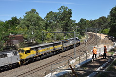 4112 Beecroft side view (highplains68) Tags: railroad rail railway australia nsw newsouthwales aus beecroft northernline 1101 freighttrain 1429 sydneytrains 4124 mainnorth vl356 eppingthornleighthirdtrack