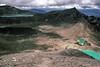 Emerald Lakes 3 and Blue Lake, 1985 (NettyA) Tags: newzealand mountains film clouds 35mm hiking slide hike nz tongarironationalpark northisland kodachrome 1985 tramping tramp daytwo scannedslide emeraldlakes mtngauruhoe
