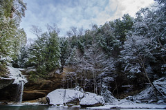 hocking hills (Justin Luebke) Tags: travel bridge camping trees winter ohio camp sky sun snow cold water leaves clouds photography frozen photo waterfall spring nikon midwest stream hiking branches caves walls southeast hockinghills d7000 nikond7000