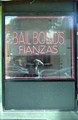 Bail Bonds - Fianzas (bortx_) Tags: street new york nyc newyorkcity selfportrait newyork film canon 50mm chinatown kodak streetphotography baxter analogue bonds 18 autorretrato portra bail fd analógico at1 película bailbond solarisation fdlens пленка fianza fianzas