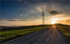 Power (Luigi Alesi) Tags: road light sunset italy sun landscape nikon scenery strada italia raw tramonto power tokina rays sole istock luce marche paesaggio tolentino gettyimages raggi 1228 energia macerata traliccio d7100