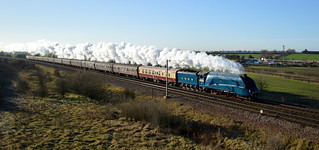 4464 Bittern heads through Colton Junction with the 1Z26 Kings Cross to York, 13th Dec 2014.