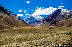 Aconcagua (Micaellb) Tags: trip travel blue sky mountain argentina rock landscape via mendoza dos andes geology gem aconcagua cordilheira uspallata micaelbergamaschi micaellubergamaschi