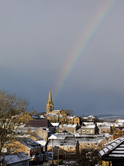 SnowBow (scottprice16) Tags: uk winter england sun snow rainbow lancashire stmaryschurch clitheroe canons95