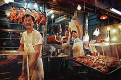 Hong Kong market (chrisitch) Tags: china street travel chris food asian photography bay photo asia market christina chinese hong kong explore pork eat vendor barbeque char causeway siu itchon