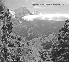 Eiger and Jungfrau from Uf Spitzen #2 (Dave Butcher Photography) Tags: blackandwhite clouds photograph grindelwald eiger jungfrau fineartphotography davidbutcher 4000metrepeak davebutcher
