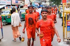Kanwaria pilgrims, Varanasi, India