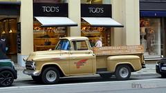Chevrolet 3200 Hydramatic (TIMRAAB227) Tags: auto chevrolet car truck munich münchen gm pickup coche 1957 3200 taskforce hydramatic thriftmaster chevrolet3200 maximiliansstrase