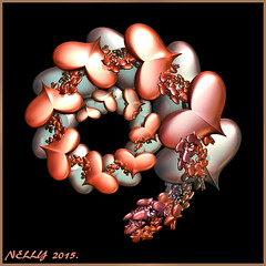 *LOVE... (MONKEY50) Tags: pink blue art love colors beautiful digital silver spiral heart fractal hypothetical musictomyeyes autofocus beautifulphoto artdigital flickraward awardtree netartii