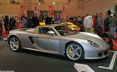 Carrera GT (The Rubberbandman) Tags: sports car museum modern race silver essen stuttgart 911 super german vehicle gt expensive exclusive motorshow racer carrera carreragt essenmotorshow racercar supersports 911carrera raceracer
