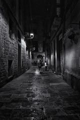 Walk to Home II (j.borras) Tags: barcelona bw white black home night walking photography bcn lonely steet toning xe1