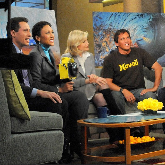 Throw back to @goodmorningamerica with Robin Roberts and Diane Sawyer. #clarklittle🆑 @hurley by clarklittle