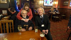 At the Lord Raglan - Douglas Wilmer, Jean Upton & Alex Werner (photo by Roger Johnson)