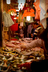 """Fish Inspection"" at Smithfield Market, Kennedy Town, Hong Kong (Ben Moll"