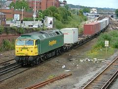 57005 eastleigh 09.07.2004 (P A Hayward) Tags: gm eastleigh freightliner class57 57005