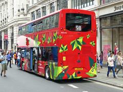 ML BYD1472 - LJ16EZN - NSR - REGENT STREET - SUN 3RD JULY 2016 (Bexleybus) Tags: street bus buses festival by design july 98 led route your dreams regent tfl 2016 metroline byd duild elrctric comfortdelgro k8sr lj16ezn byd1472