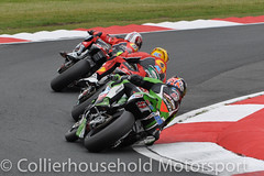 BSB - R1 (13) Haslam on the tails of the Hondas (Collierhousehold_Motorsport) Tags: honda bmw yamaha suzuki ducati kawasaki bsb superbikes sbk snetterton msvr