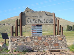 Welcome to Cokeville, Wyoming (jimmywayne) Tags: sign wyoming welcome citylimit lincolncounty cokeville