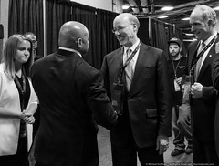 Pennsylvania Governor Tom Wolf (mhoffman1) Tags: demconvention demsinphl demsinphilly dnc democrats pennsylvania philadelphia philly rx100iv tomwolf wellsfargocenter backstage blackandwhite convention governor greeting handshake monochrome politcs politician unitedstates us