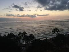 Pacific Ocean from Waikiki Beach (Nurse Kitty Qat) Tags: sunset beach oahu waikikibeach