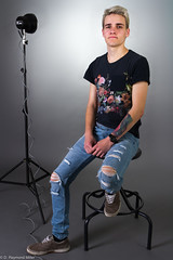 Evan R. 2 (FilmstripLeads) Tags: guy jeans ripped torn style fashion editorial tattoo evan eos 7d canon 24mm l f14 studio lighting light stand strobe over pack novatron grey man manchester nhia