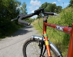 taking the long way home 01 jul 16 (Shaun the grime lover) Tags: summer bike bicycle wheel cycling warrington path tube moore cycle frame velo walton handlebars