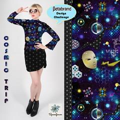 Cosmic_Trip_Betabrand_Mockup (vannina_sf) Tags: trip travel fashion stars design pattern space alien contest hologram textile galaxy future planet scifi et cosmic cosmos ai newage milkyway interstellar spoonflower betabrand