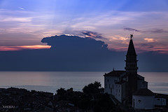 Sunseet Piran (thanks for visiting my page) Tags: piran slovenie slovenia coast sea sunset landscape colour bertmeijers bmeijers