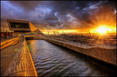 Liverpool pier head (looking south towards canal link) (Proscriptor McGovern) Tags: liverpoolsunset pierhead xmuseum canallink