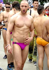 IMG_6119 (danimaniacs) Tags: losangeles westhollywood gay pride parade hot sexy stud hunk man guy shirtless swimsuit trunks speedo briefs beard scruff