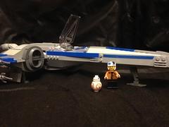 T-70 X-Wing Poe BB8 (opu2014) Tags: t70 xwing starwars poedameron lego moc minifigures episodevii theforceawakens custom bb8 droid