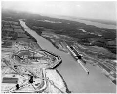 Barkley Dam Construction (NashvilleCorps) Tags: barkley barkleydam barkleypowerhouse construction usace corpsofengineers nashvilledistrict 1962 cumberlandriver kentucky cofferdam gantrycrane crane navigationlock