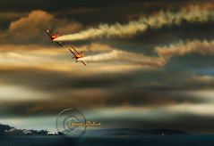 Those magnificent men in their flying machines. (Edward Dullard Photography. Kilkenny, Ireland.) Tags: photoart bray wicklow ireland planes painterly kilkenny edwarddullardphotography tourismireland wicklowtourism eire sky cloud light aeroplane