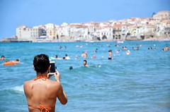 Arancio di Sicilia [Explore n.25 del 28 luglio 2016] (encantadissima) Tags: cefal palermo sicilia borgo people foto panorama mare bagnanti arancio