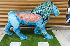 Pride of Paisley - Lamassu (markyharky) Tags: pride paisley prideofpaisley lions lion sculpture lionsculpture prideofpaisleywildinart lamassu glasgow airport glasgowairport egpf gla colourful artistic statue prideofpaisleycouk