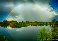 Happy Friday (DonMiller_ToGo) Tags: florida venicerookery reflection nature onawalk droid2 outdoors sky lake weather rainbows clouds