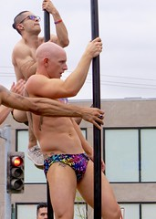 IMG_6233 (danimaniacs) Tags: losangeles westhollywood gay pride parade hot sexy man guy stud shirtless bikini speedo swimsuit trunks pole dance bald tattoo