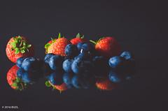 Strawberries and Blueberries! (BGDL) Tags: lightroomcc nikond7000 bgdl niftyfifty odc afsnikkor50mm118g fruit strawberries blueberries reflections berries