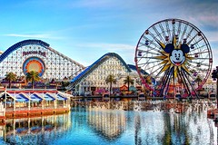 Color Splash (KC Mike D.) Tags: park theme adventure california disney wheel ferris mickey screamin rollercoaster water pier paradise reflection worldofcolor