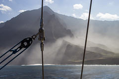 Na Pali Coast (steven.art.wood) Tags: kauai napalicoast ocean boat napali fog