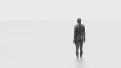 Alone (Say It With A Camera) Tags: crosby statues sand sayitwithacamera mikehardistyphotography antonygormley beach anotherplace sea